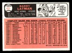 1966 Topps #451  Barry Latman  Back Thumbnail