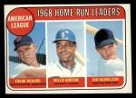 1969 Topps #5   -  Frank Howard / Willie Horton / Ken Harrelson AL HR Leaders   Front Thumbnail