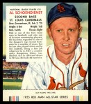 1955 Red Man #18 NL Red Schoendienst  Front Thumbnail