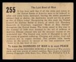 1938 Gum Inc. Horrors of War #255   The Last Bowl of Rice Back Thumbnail