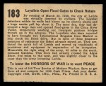 1938 Gum Inc. Horrors of War #183   Loyalists Open Flood Gates to Check Rebels Back Thumbnail