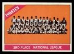 1966 Topps #404 *ERR*  Pirates Team Front Thumbnail