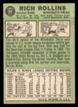 1967 Topps #98 ^COR^ Rich Rollins  Back Thumbnail