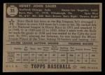 1952 Topps #35 BLK Hank Sauer  Back Thumbnail