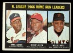 1967 Topps #244   -  Hank Aaron / Rich Allen / Willie Mays NL HR Leaders Front Thumbnail