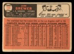 1966 Topps #158  Jim Brewer  Back Thumbnail