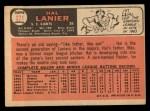 1966 Topps #271  Hal Lanier  Back Thumbnail