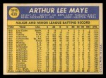 1970 Topps #439  Lee Maye  Back Thumbnail