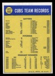 1970 Topps #593   Cubs Team Back Thumbnail