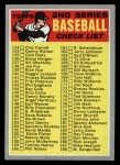 1970 Topps #128 COR  Checklist 2 Front Thumbnail