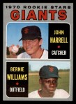 1970 Topps #401   -  John Harrell / Bernie Williams Giants Rookies Front Thumbnail