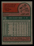1975 Topps Mini #587  Chris Ward  Back Thumbnail