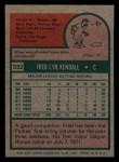 1975 Topps Mini #332  Fred Kendall  Back Thumbnail