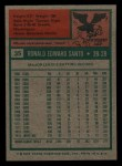1975 Topps Mini #35  Ron Santo  Back Thumbnail