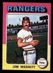 1975 Topps Mini #83  Jim Merritt  Front Thumbnail