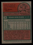 1975 Topps Mini #98  Rich Folkers  Back Thumbnail