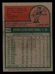 1975 Topps Mini #169  Cookie Rojas  Back Thumbnail