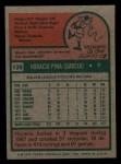1975 Topps Mini #139  Horacio Pina  Back Thumbnail