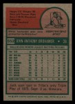 1975 Topps Mini #552  Jack Brohamer  Back Thumbnail