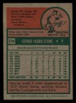 1975 Topps Mini #239  George Stone  Back Thumbnail
