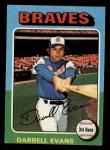 1975 Topps Mini #475  Darrell Evans  Front Thumbnail