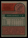 1975 Topps Mini #103  Rick Miller  Back Thumbnail