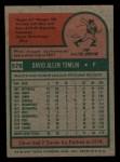 1975 Topps Mini #578  Dave Tomlin  Back Thumbnail