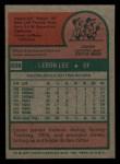 1975 Topps Mini #506  Leron Lee  Back Thumbnail