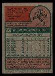 1975 Topps Mini #291  Bill Sudakis  Back Thumbnail