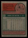 1975 Topps Mini #227  Bob Watson  Back Thumbnail