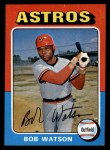 1975 Topps Mini #227  Bob Watson  Front Thumbnail