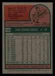 1975 Topps Mini #123  Johnny Briggs  Back Thumbnail