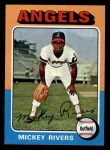 1975 Topps Mini #164  Mickey Rivers  Front Thumbnail