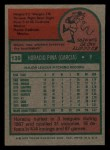 1975 Topps Mini #139  Horacio Pina  Back Thumbnail