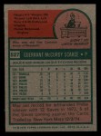 1975 Topps Mini #527  Mac Scarce  Back Thumbnail