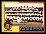 1975 Topps Mini #611   -  Bill Virdon Yankees Team Checklist Front Thumbnail