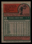1975 Topps Mini #56  Rick Wise  Back Thumbnail
