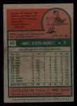 1975 Topps Mini #83  Jim Merritt  Back Thumbnail