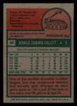 1975 Topps Mini #65  Don Gullett  Back Thumbnail