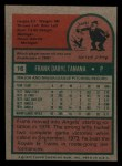 1975 Topps Mini #16  Frank Tanana  Back Thumbnail