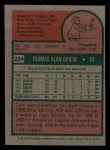 1975 Topps Mini #234  Tom Grieve  Back Thumbnail