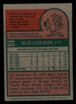 1975 Topps Mini #592  Balor Moore  Back Thumbnail