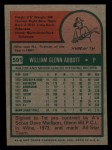 1975 Topps Mini #591  Glenn Abbott  Back Thumbnail