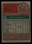 1975 Topps Mini #391  Don DeMola  Back Thumbnail