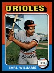 1975 Topps Mini #97  Earl Williams  Front Thumbnail