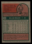 1975 Topps Mini #104  Bill Madlock  Back Thumbnail