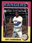 1975 Topps Mini #518  Leo 'Chico' Cardenas  Front Thumbnail