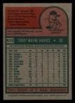 1975 Topps Mini #612  Terry Hughes  Back Thumbnail