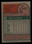 1975 Topps Mini #431  Rod Gilbreath  Back Thumbnail