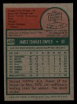 1975 Topps Mini #429  Jim Dwyer  Back Thumbnail